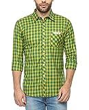 Wajbee Men's 100% Cotton Casual Shirt-M