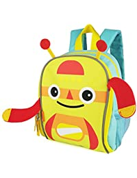 Zebrum Toddler Backpack, Kids Bag With Reflective Stripe And Mesh Side Pockets For Boys And Girls, Cute Monster...