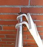 Jennys Tiershop 2 Meter! Katzenleiter (Mit Einem Verbindungsstück) Katzentreppe für Balkon, Katzenmöbel, Fichte Natur 20 cm, Mit Haken! (b)