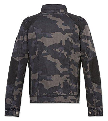 Brandit Hommes Blake Vintage Veste Noir sombre camouflage