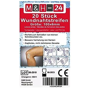 Klammerpflaster Set/Wundnahtstreifen-Strips Nahtmaterial Wundverschluss-Streifen Steril 6 x 100 mm