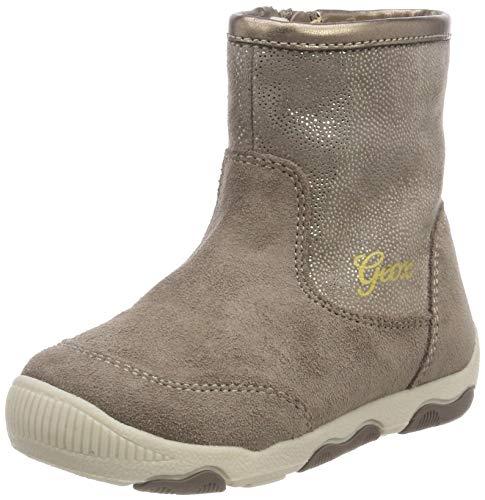 Geox Baby Mädchen B New BALU' Girl D Stiefel, Beige (Smoke Grey C9006), 25 EU - Kind Schuhe Stiefel Mädchen
