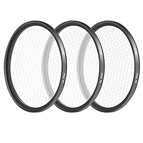 52MM : Neewer 52MM 3 Pieces Points Star Lens Filters Kit for Nikon D3300 D3200 D3100 D3000 D5300 D5200 D5100 D5000 D7000 D7100 DSLR Camera, Made of HD Glass and Aluminum Frame Material (Black)  available at amazon for Rs.3049