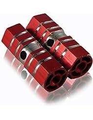 LUPO® Reposapiés – Ejes de Apoyo de Pies para BMX / Escúter – Hexagonales, de Aleación para Uso Intensivo - Paquete con 2
