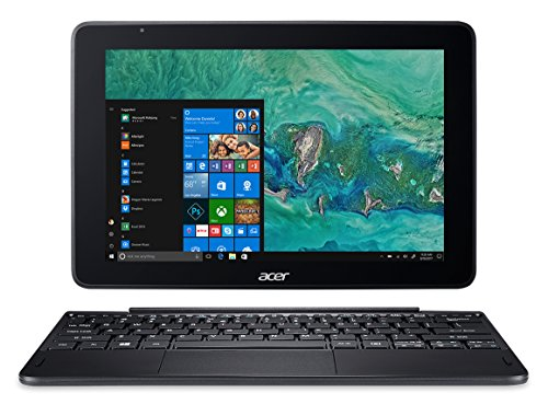 "Acer One 10 S1003-17WM Notebook Processore Intel Atom Quad Core x5-Z8350, Ram 4GB DDR3, 64 GB eMMC, Display 10.1"" IPS HD, Windows 10 Home, Layout Tastiera: Italiano, Nero"