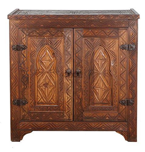 Casa Moro Kommode Sideboard Holz Schrank Orientalisch Marokkanisch Wohnzimmer BAHA - Orientalische Möbel Wohnzimmer Schrank