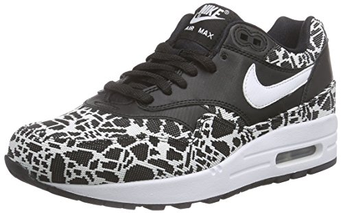 Nike - Wmns Air Max 1 Jcrd, Scarpe sportive Donna Noir (Black/White/Metallic Silver)
