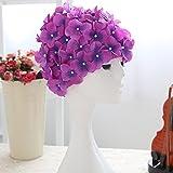 LUOEM Schwimmen Sie Hut Mütze Blume schwimmen Hut Badekappen (lila)