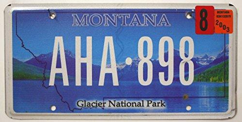 US Nummernschild MONTANA Kennzeichen # Motiv: GLACIER National Park # KFZ Blechschild USA