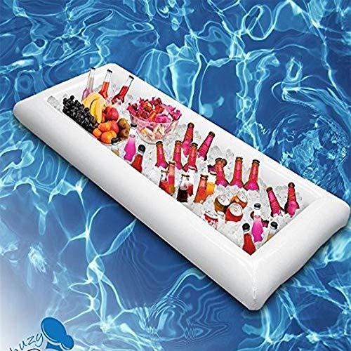Womdee aufblasbare Kühlschale, aufblasbarer Float Bier Eiskübel/Servier/Salatbar, aufblasbares Grill, Picknick, Buffet, Getränkehalter für Party, 53 x 65 x 14 cm, 1 Packung
