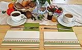 MahlzeitBrettchen Frühstücksbrettchen Brotzeit Motiv Gestreift Kunststoff – Resopal 23,5 x 14,5 cm, 2er Set, Made in Germany