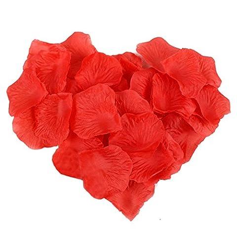 Blanc–Lot de 1000pétales de rose en soie Rouge Fleur Mariage Confetti Table Lit Décorations