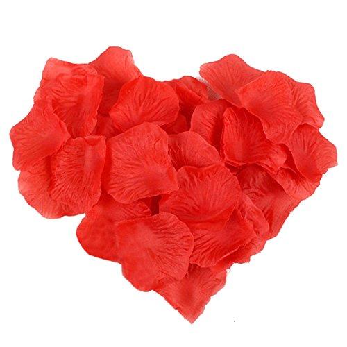 Cooltechstuff - Confezione da 1000 petali di rosa in seta rossa per matrimoni, feste, decorazioni per tavoli e letti Red - 1000 Di Rosa Di Seta Petali