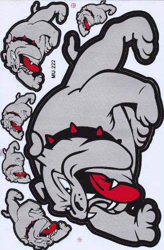 Bulldog Rouge Stickers autocollants Film 1/feuilles de 270/mm x 180/mm r/ésistant aux intemp/éries