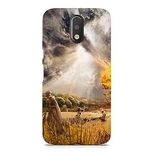 Hamee Designer Printed Hard Back Case Cover for Motorola Moto G4 Plus Design 6873