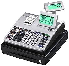 Casio SE-S400SB-SR-FIS Caisses enregistreuses enfichables GDPDU Avec licence pour logiciel d'utilisation, pile et carte SD, argenté/noir