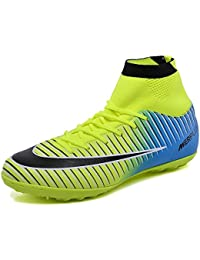 buy online 0b536 9eabe KAMIXIN Football Boots Men s High Top Soccer Training Shoes Kids Football  Trainers Shoes Unisex Soccer Boots Boy s…