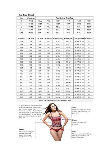 JFIN Femmes Forme U Brassière Spandex Bounce Gris Indy Pro Red