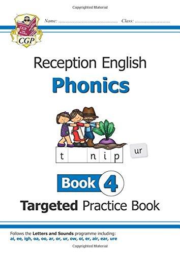 New English Targeted Practice Book: Phonics - Reception Book 4 por CGP Books