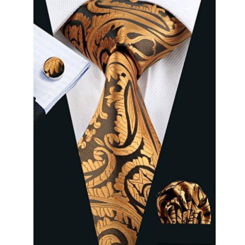 hi-tie-paisley-gold-mens-necknecktie-hanky-manschettenknpfe-set
