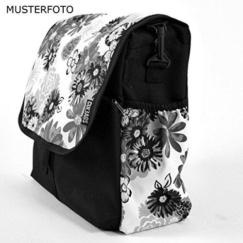 C-BAGS BETSIE single MEADOW Tasche Gepäckträger Fahrradtasche verschiedene Muster brown-beige