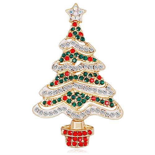 Weihnachtsbaum Kostüm Schmuck - Hacoly Hemd Strass Brosche Boutique Broschen Schmuck Weihnachten Weihnachtsbaum Pin Kostüm Brosche Mantel Clips Deko Zubehör Jacken Broschen Schals Broschen für Damen
