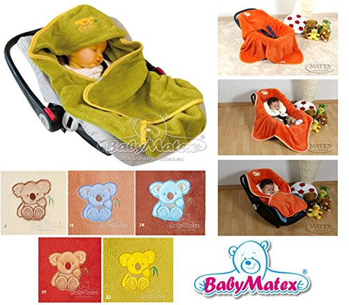 Preisvergleich Produktbild BabyMatex - Fleece Babydecke mit Gurtschlitzen für Autositz (Grün)