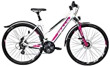 Damen Fahrrad 28 Zoll weiß - Bulls Crossbike Street - Shimano Kettenschaltung, Suntour Federgabel, StVZO Beleuchtung