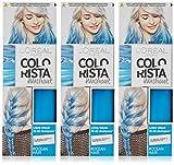 L'Oreal Paris Colorista Washout Neon tinte semipermanente para el cabello, azul océano, 80 ml, paquete de 3