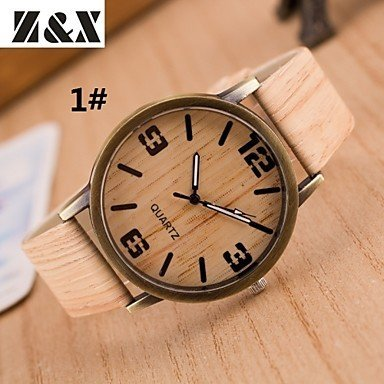 damenmode-holzmaserung-vier-digitale-quarz-analog-denim-stoff-band-armbanduhr-farbig-sortiert-farbe-