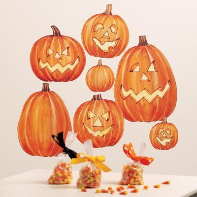 Wallies Peel and Stick Holiday Mural, Jack O'Lanterns by Wallies