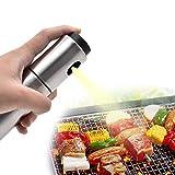 Unbekannt Olivenöl-Sprayer, Edelstahl-Essig-Sprayer, Grill Kochen Backen Silikon-Trichter, Sprühflasche, Tragbare Ölspender, Grill Öl,