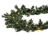 Gartenpirat Tannengirlande 8,1 m mit 120 LED-Mix beleuchtet für Weihnachten