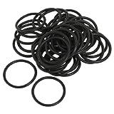 50 Pcs Black Nitrile Rubber O Ring NBR Sealing Gaskets 30mm x 2.5mm