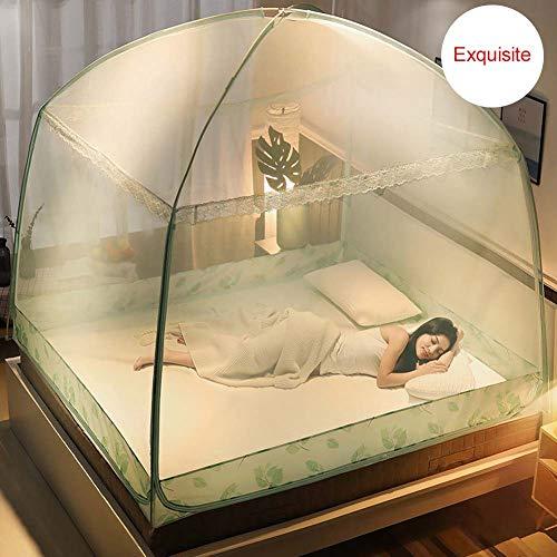 Nbibsaacy Tent Canopy Vorhänge für Betten Anti Mosquito Bites Falten Design mit Net Bottom Pop-Up Mosquito Folding Mosquito Net geeignet für Erwachsene Kinder und Babys,Green,1.8m