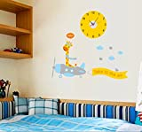 UberLyfe Flying Giraffe Wall Clock cum W...