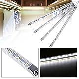 Lichtleiste Unterbauleuchte Beleuchtung LED Lampe 4 teilig Kleiderschrank Küche (Kalt-Weiß)