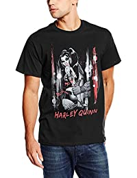 DC Comics Harley Quinn Handcuffed, Camiseta para Hombre