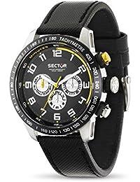 Sector Herren-Armbanduhr Analog Quarz Leder R3251575001