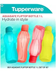 Tupperware Aquasafe Flip Top Bottle 1 L each, Set of 4 by Tupperware