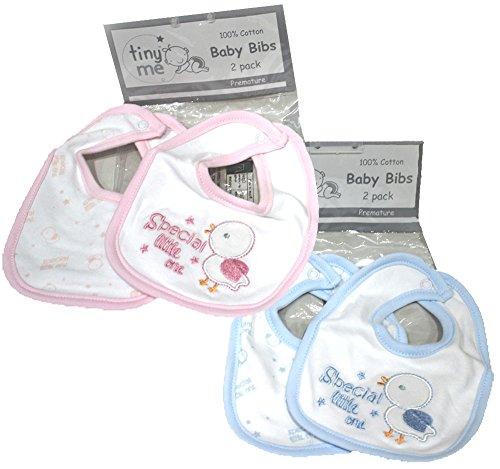 2 x Mini Me brodé pour bébé prématuré Tiny bavoirs bébé rose ou bleu de Boogaloo