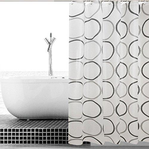 RANRANHOME Peva Duschvorhang mit Magneten Wasserdicht und Anti-Mehltau-Dusche,Brown
