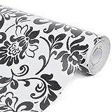 Yizunnu Vintage Flower Kontakt Papier Selbstklebend Tapete Regalen Make-up Schmuck Schrank Decor 45x 1.000,8cm 17.7X393 inch C11
