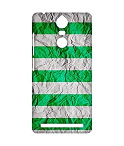 Gobzu - Paper-Green - Phone Case Mobile Back Cover for Lenovo K5 Note