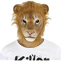 Cusfull látex caucho animal cabeza máscara disfraz de león Halloween máscara de fiesta de Navidad para adultos