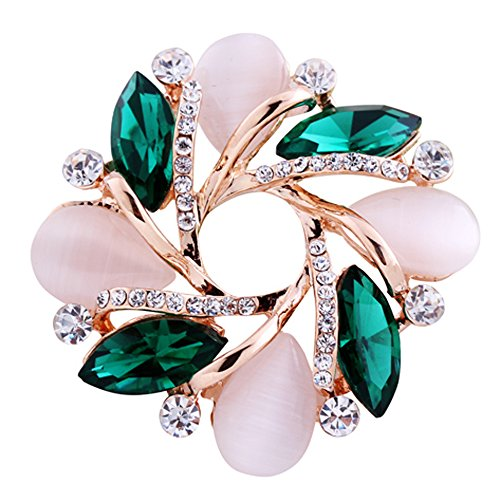 3 PCS EXCLUSIVO COLLAR FEMENINO DE MODA BROCHE DE COLORIDO 2 05X1 46IN CRISTAL DE DIAMANTE BROCHE