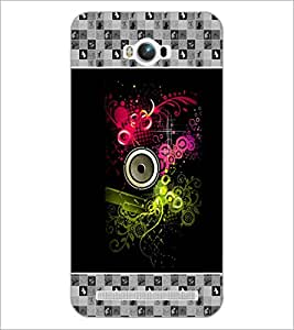 PrintDhaba Abstract Design D-5726 Back Case Cover for ASUS ZENFONE MAX ZC550KL (2016) (Multi-Coloured)