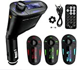 REALMAX® Car Music FM Transmitter universally compatible with all Brand mobiles MP3 Players Tablets & all car models (Blue Model2)