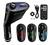REALMAX� Car Music FM Transmitter universally compatible with all Brand mobiles MP3 Players Tablets & all car models (Blue Model2)
