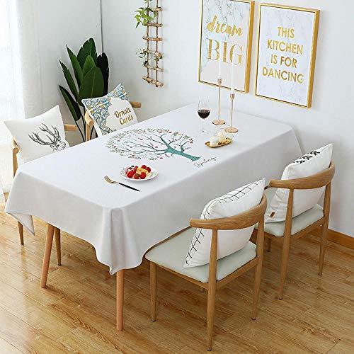 LKWXRX Tischdecke tischdecke Tisch und Stuhl Set einfach verdicken Baumwolle Burst wasserdicht ölbeständig verbrühschutz runden Tisch couchtisch Tuch 140 * 230 cm -